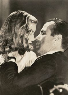 Lauren Bacall and Humphrey Bogart in To Have and Have Not (1944)