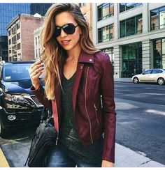 Burgundy faux leather