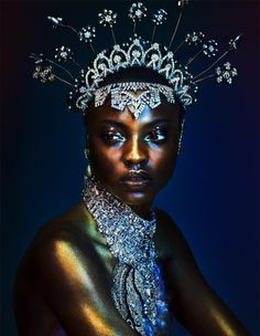 """""""All That Glitters"""" Model Olamide Ogundele Photographed by Andrew Yee for Hunger Magazine #13-2017 Credits: Photography by Andrew Yee Stylist: Kim Howells Hair: Nick Irwin Makeup: Marco Antonio"""