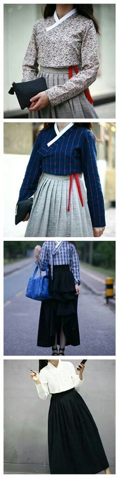 On Facebook, I found these #Casual #Hanbok Couldn't find brand name, but can it be trend? :)