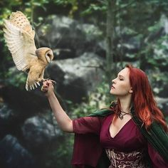 Image about redhead owl in Atom Eve by & Red on We Heart It Fantasy Photography, Animal Photography, Images Esthétiques, Dark Fairytale, Medieval Fantasy, Kaito, Fantasy Characters, Spirit Animal, Beautiful Creatures