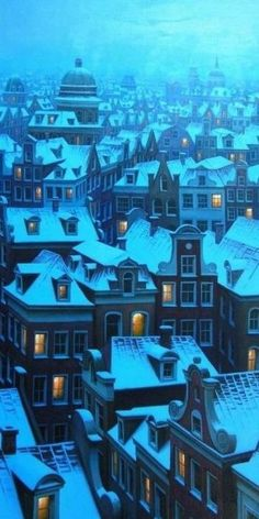 #art #illustration #architecture #scenery #snow #winter #christmas