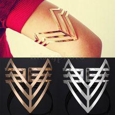 Punk Egypt Cleopatra Triple Upper Arm Cuff Armlet Armband Bangle Bracelet Top #UnbrandGeneric #Armcuff