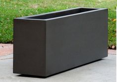 Large black outdoor fiberglass rectangular planter 4 ft 287 modern square rectangular planters black matte finish workwithnaturefo