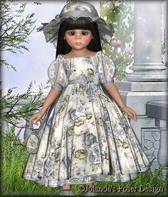 Jolanda's Posertjes Victorian, Disney Princess, Disney Characters, Cute, Dresses, Design, Elves, Witches, Fairies