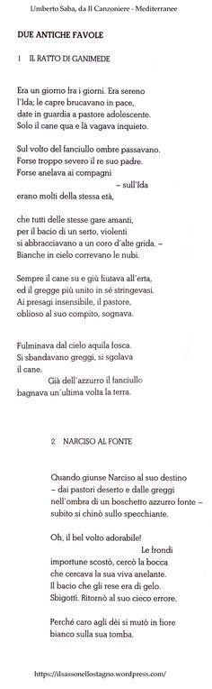 . tratte da Saba - Vita, poetica, opere scelte (Il Sole 24 Ore)
