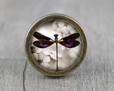 Dragonfly  Vintage Antique Bronze Dresser Knobs by jade4wood, $6.20