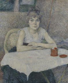 Young Woman at a Table, 'Poudre de riz', 1887, Henri de Toulouse-Lautrec, Van Gogh Museum, Amsterdam (Vincent van Gogh Foundation)