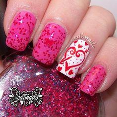 VALENTINE by cdbnails143  #nail #nails #nailart