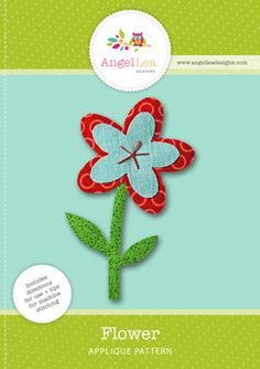 Free Applique Patterns: Designs for All Occasions - So Sew Easy Flower Applique Patterns, Applique Templates, Embroidery Applique, Quilt Patterns, Embroidery Designs, Sewing Patterns Free, Free Sewing, Braided Area Rugs, Scrap Fabric Projects