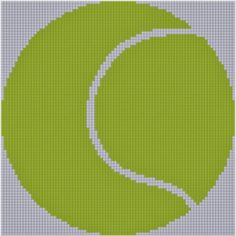 Mother Bee Designs: Tennis Ball Cross Stitch Pattern
