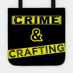 True crime and Crafting - Crafting - Tote   TeePublic Best Leggings, True Crime, Cute Gifts, Creepy, Crafts, Beautiful Gifts, Manualidades, Handmade Crafts, Craft