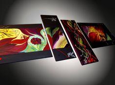 Energie Color Tableau Design, Decoration, Creations, Images, Polaroid Film, Color, Modern Paintings, Wall Art, Paint