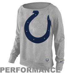 Nike Indianapolis Colts Ladies Wildcard Epic Crew Performance Sweatshirt - Ash