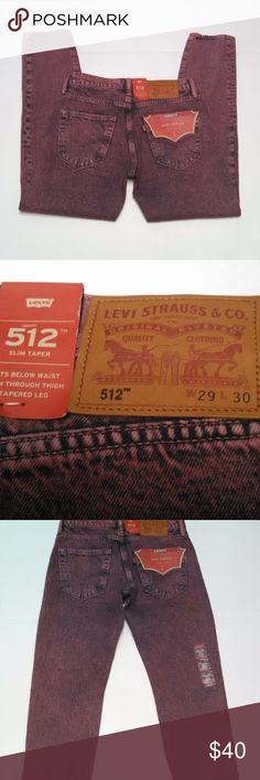 7e96f65b6613 Levi's 512 Purple Acid Was Jeans 29x30 Slim Taper Men's Levi's 512 Purple  Acid Was Jeans
