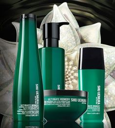 Ultimate Remedy Extreme Restoration line fro Shu Uemura.  with lotus Infusion + ceramide 1000 PPM technology, it restores the solidity and strength of the hair fiber while gently purifying the hair while respecting the balance of the scalp. -- #VIVESQUE #thanksgivingpoint #brickcanvas #kerastase #shuuemura #kerastasesalon #shuuemurasalon #artofhair #growth #love #heal #joy #wash #meditation
