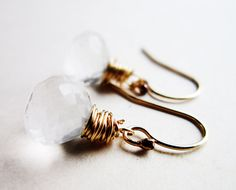 Cyber Monday Etsy Jewelry Quartz Earrings  by thelittlehappygoose,