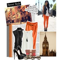 Street style...leather vest :)