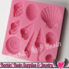 Ocean SEASHELLS SILICONE MOLD, Food Grade, Flexible Sea Shell Mold, Fondant Mold, Chocolate Mold, Candy Mold, Polymer Clay Mold, Resin Mold