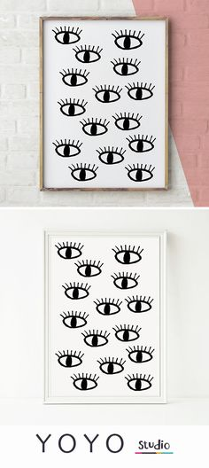 Eyes pattern print. Printable Art available as a jpeg or pdf download. Designed by Emma Henderson . Printable art on Etsy