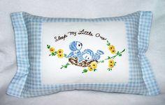 Bluebirds pillow