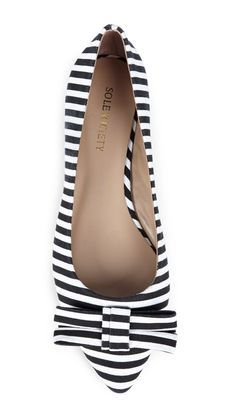 Stripes pointed flats ♥