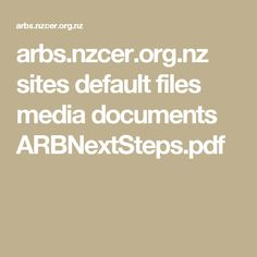 arbs.nzcer.org.nz sites default files media documents ARBNextSteps.pdf Document, Language, Pdf, Bees, Speech And Language, Language Arts
