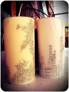 DIY Designer Candles