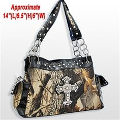 Camo Real-Tree Purse W/CROSS SIGN $36 or one similar! Needing a new purse soon