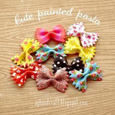 Cute Painted Pasta -