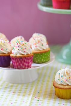 Funfetti Cupcakes by annieseats, via Flickr....used for the base for cake batter ice cream cupcakes (made 24 bases using 1T batter each + 12 regular size cupcakes)