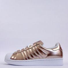 adidas Originals Superstar Womens Shell Toe Trainers Shoes Metallic Copper…