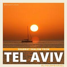 Shabbat Shalom from Tel Aviv, Israel. #LiveLoveIsrael