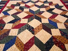 Pattern Simple Stars, Beautiful Quilts by Debbie Maddy. Love the colors