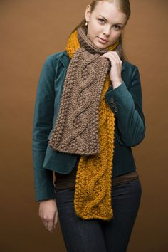 Mixed Message Scarf - Free Knitting Pattern With Website Registration - (lionbrand)
