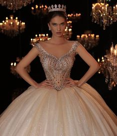 Swipe and tell me what look do you like the mos Royal Ball Gowns, Royal Dresses, Quince Dresses, Luxury Wedding Dress, Dream Wedding Dresses, Wedding Gowns, Wedding Bells, Pretty Dresses, Beautiful Dresses