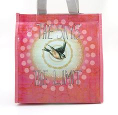 PAPAYA ART INSULATED LUNCH BAG ~ SKY'S THE LIMIT ~ MEDIUM LUNCH TOTE ~ NEW #PapayaInc #TotesShoppers