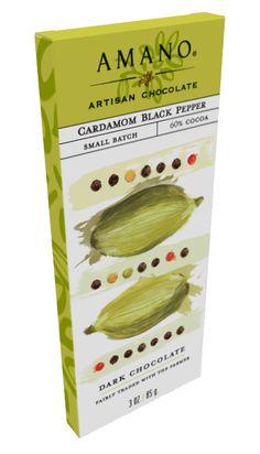 Cardamom Black Pepper 60% by Amano Artisan Chocolate