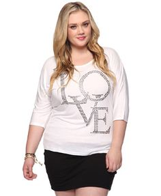 Studded Love Top (Forever21)