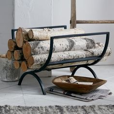 Rings Fireplace Log Holder | west elm