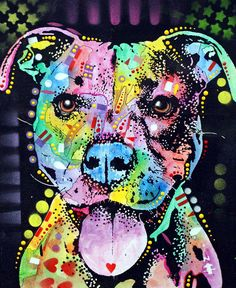 Pitbull Love...Dean Russo Art