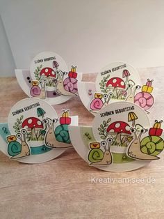 Snail Cards, Handmade Birthday Cards, Card Birthday, Swing Card, Step Cards, Fun Fold Cards, Animal Cards, Punch Art, Stamping Up