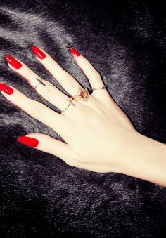 Perfect color! .....Red nails.
