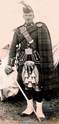 Argyll and Sutherland Highlanders Officer, Boer War,c1900