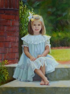 Love this beautiful outdoor portrait of a girl.
