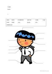 TARZAN - BODY WORDSEARCH worksheet - Free ESL printable worksheets made by teachers