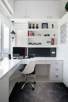 Image result for built in desk ideas for bedroom wall