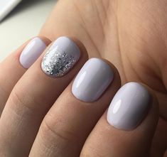 Nails ideas these light purple gel nails are so cute! These light purple gel nails are very cute! Purple Gel Nails, White Nails, Glitter Nails, Fun Nails, White Glitter, Light Purple Nails, Light Colored Nails, Gray Nails, Sparkle Nails