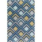 Sego Denim (Blue) 3 ft. 6 in. x 5 ft. 6 in. Indoor Area Rug