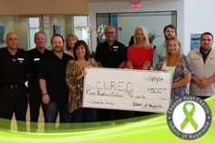 Three times a charm!! Thank you Ellen, Fred and Michelle for taking some time to claim a $500 donation for C.U.R.E.D.'s 3rd win in our #ChooseYourCharity contest back in July. — at Infiniti of Naperville-Lisle.